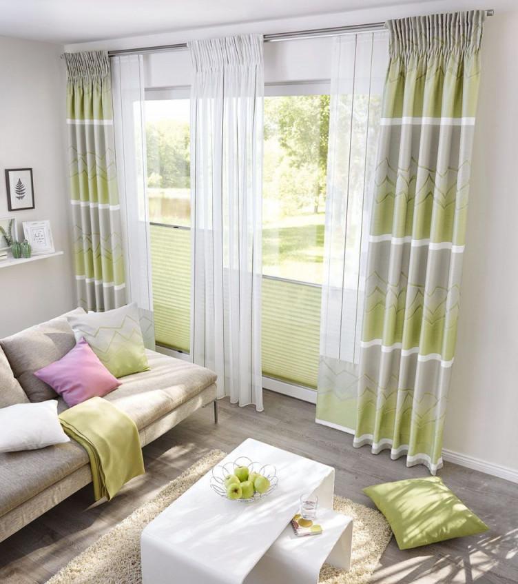 Kleiner Ratgeber Für Schöne Gardinen  Ideen  Inspiration von Gardinen Wohnzimmer Grün Bild