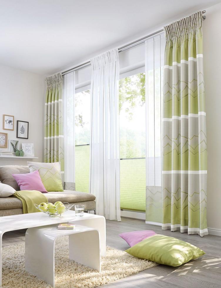 Kleiner Ratgeber Für Schöne Gardinen  Ideen  Inspiration von Gardinen Wohnzimmer Grün Photo