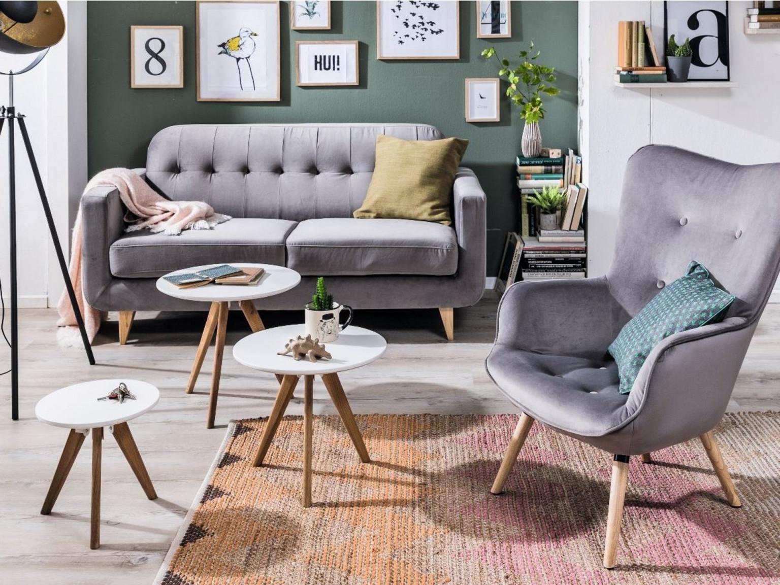 Kleines Wohnzimmer Gemütlich Und Clever Einrichten von Wohnzimmer Mit Sessel Einrichten Photo