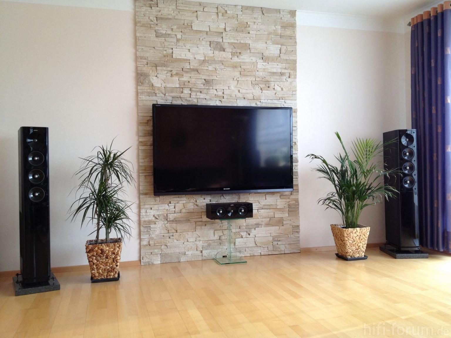 Konzept 43 Zum Fernsehwand Selber Bauen  Steinwand von Wohnzimmer Fernsehwand Ideen Bild