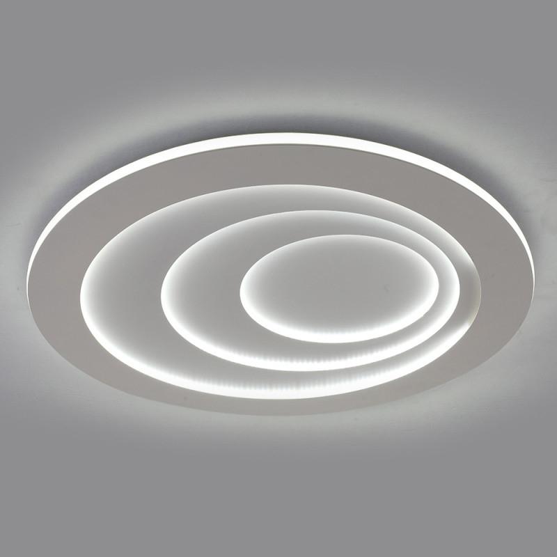 Kreative Led Deckenleuchte Rund Für Wohnzimmer In Weiß von Deckenlampe Wohnzimmer Rund Bild