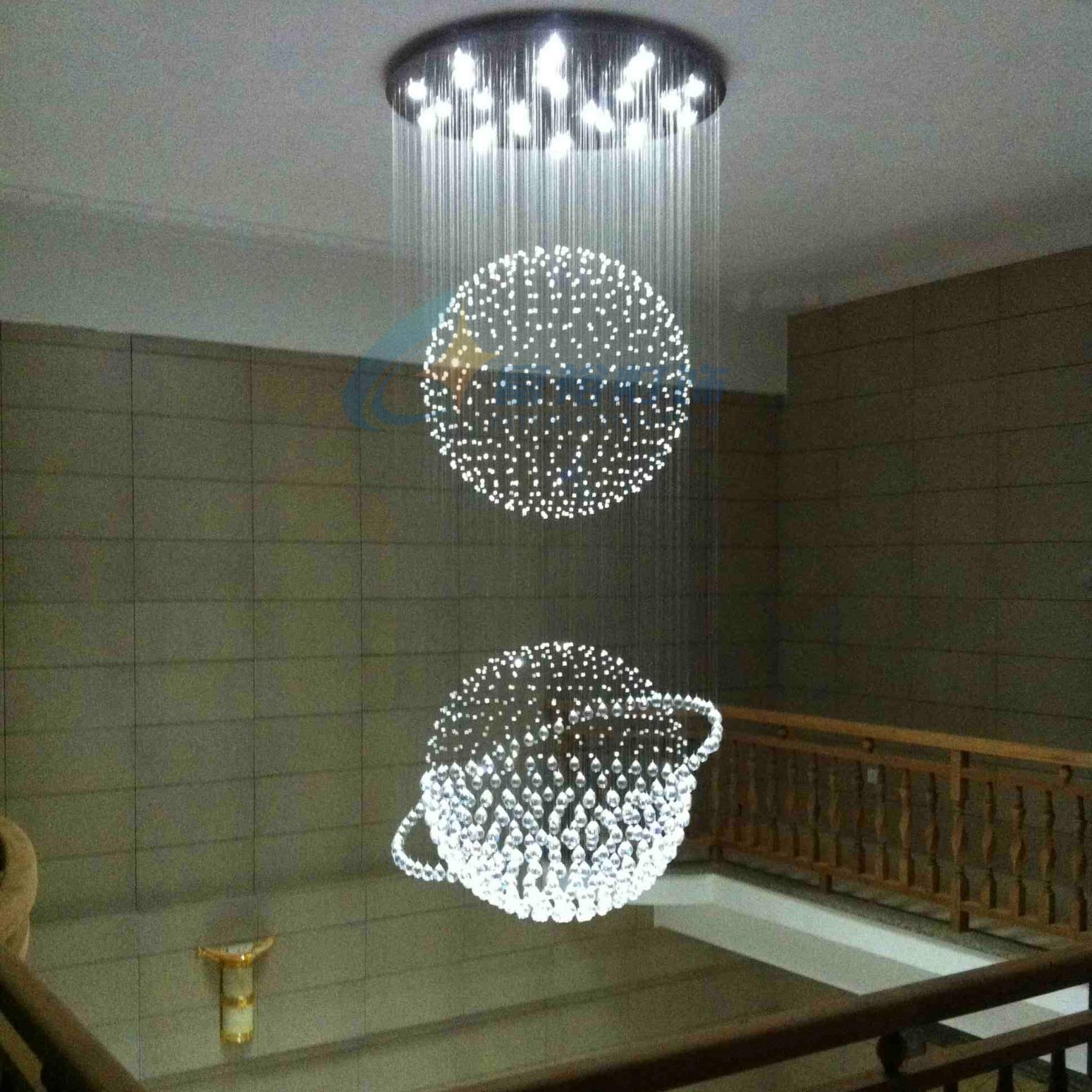 Kristall Anhänger Licht Led Restaurant Lichter Moderne Kurze von Große Lampe Wohnzimmer Photo
