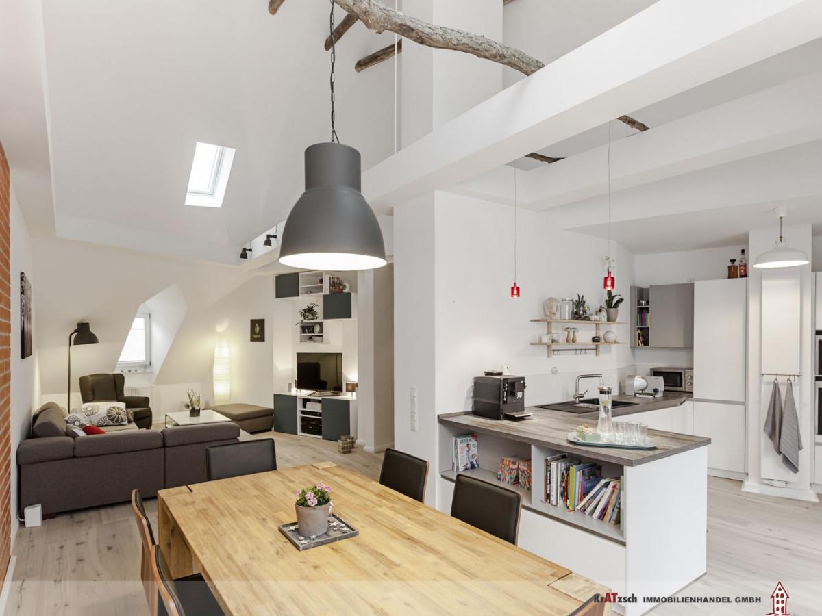 Küche Esszimmer Wohnzimmer Übergang  Wohnen Offene Küche von Offenes Wohnzimmer Gestalten Bild