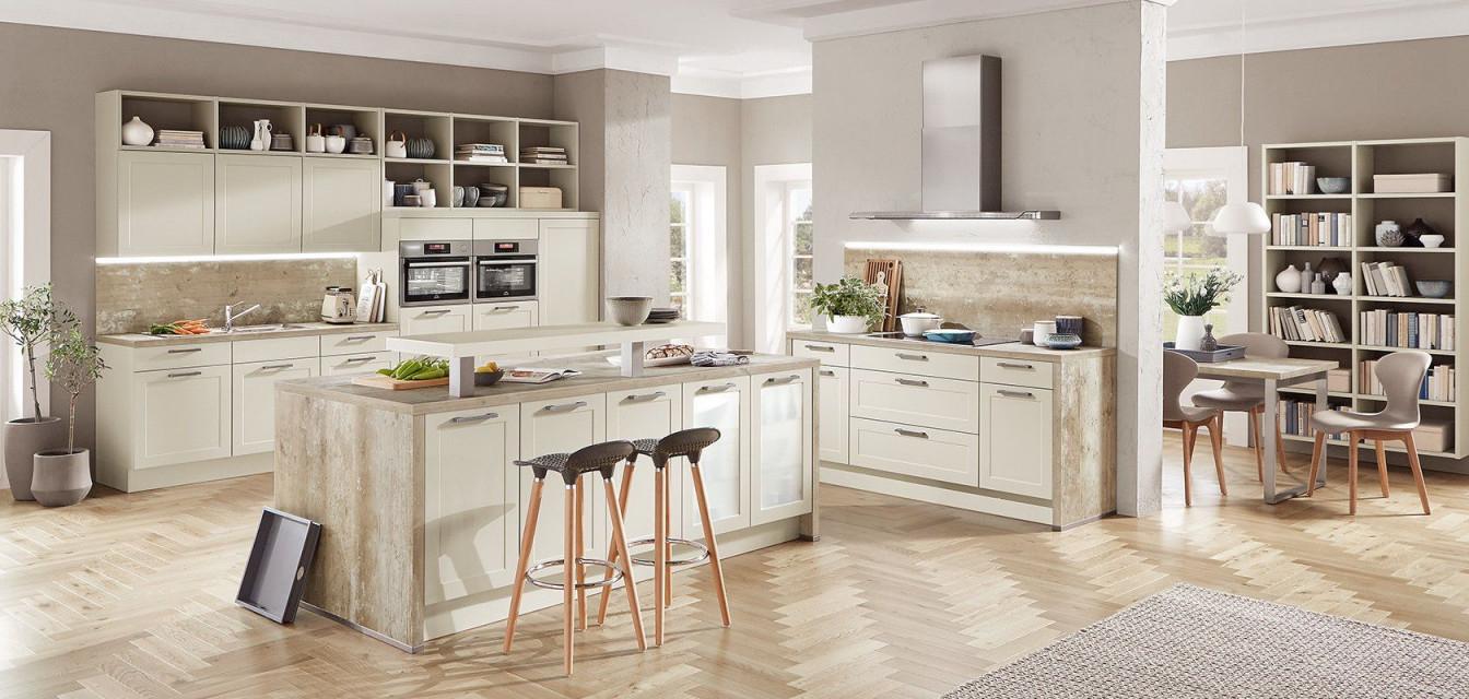 Küche Freie Sicht Ins Wohnzimmer  Bauemotion von Wohnzimmer Mit Treppe Einrichten Photo