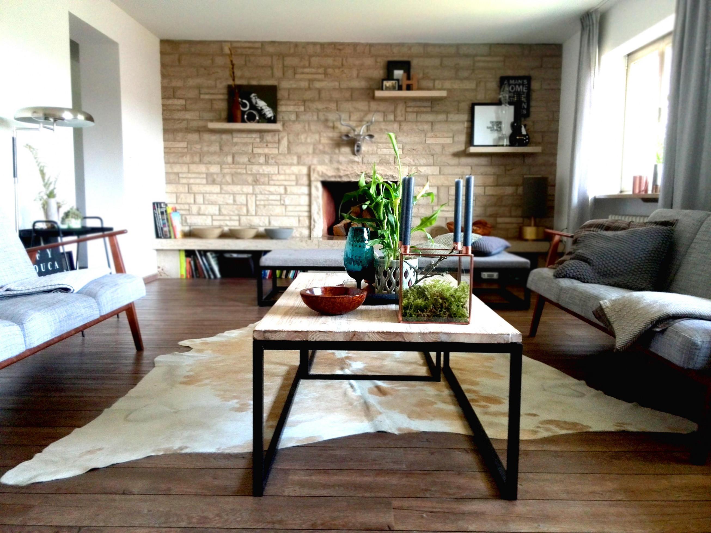 Kuhfell • Bilder  Ideen • Couch von Kuhfell Teppich Wohnzimmer Photo