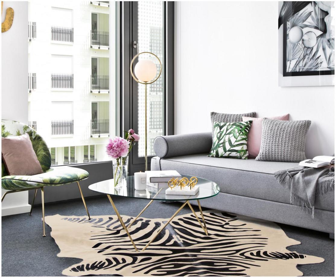 Kuhfellteppich Zebra von Wohnzimmer Mit Kuhfell Teppich Bild