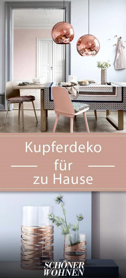 Kupferdeko – Schöne Ideen  Kupfer Deko Wohnen Möbeldesign von Kupfer Deko Wohnzimmer Bild