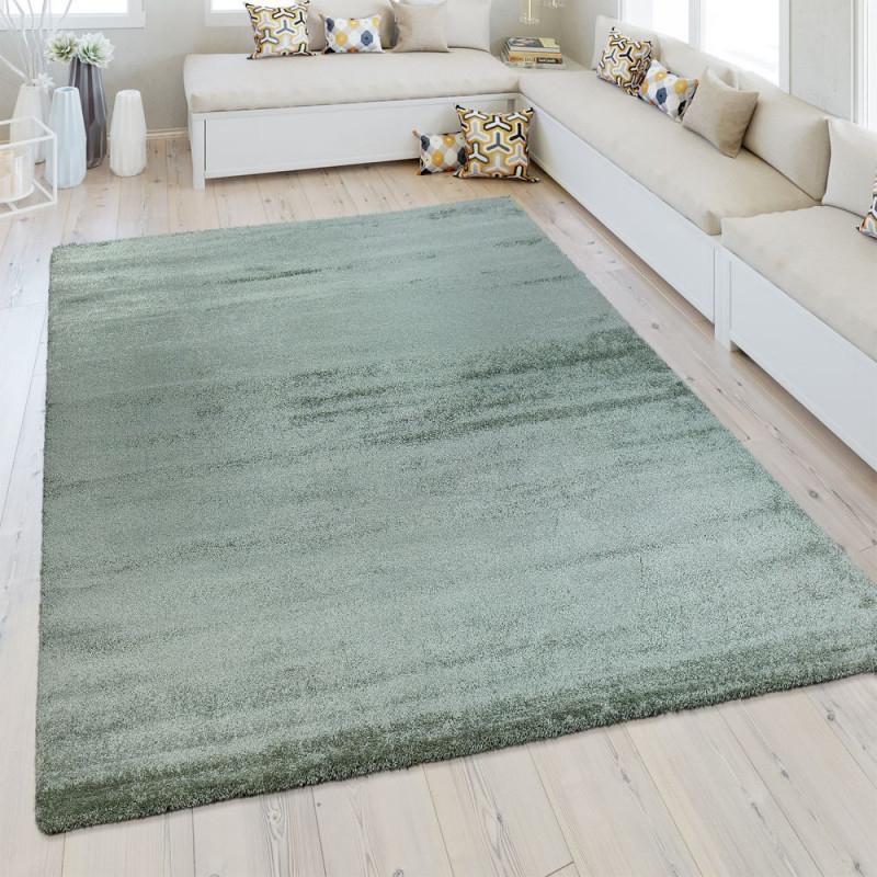 Kurzflorteppich Wohnzimmer Meliert  Teppich Grün Teppich von Teppich Wohnzimmer Grün Photo