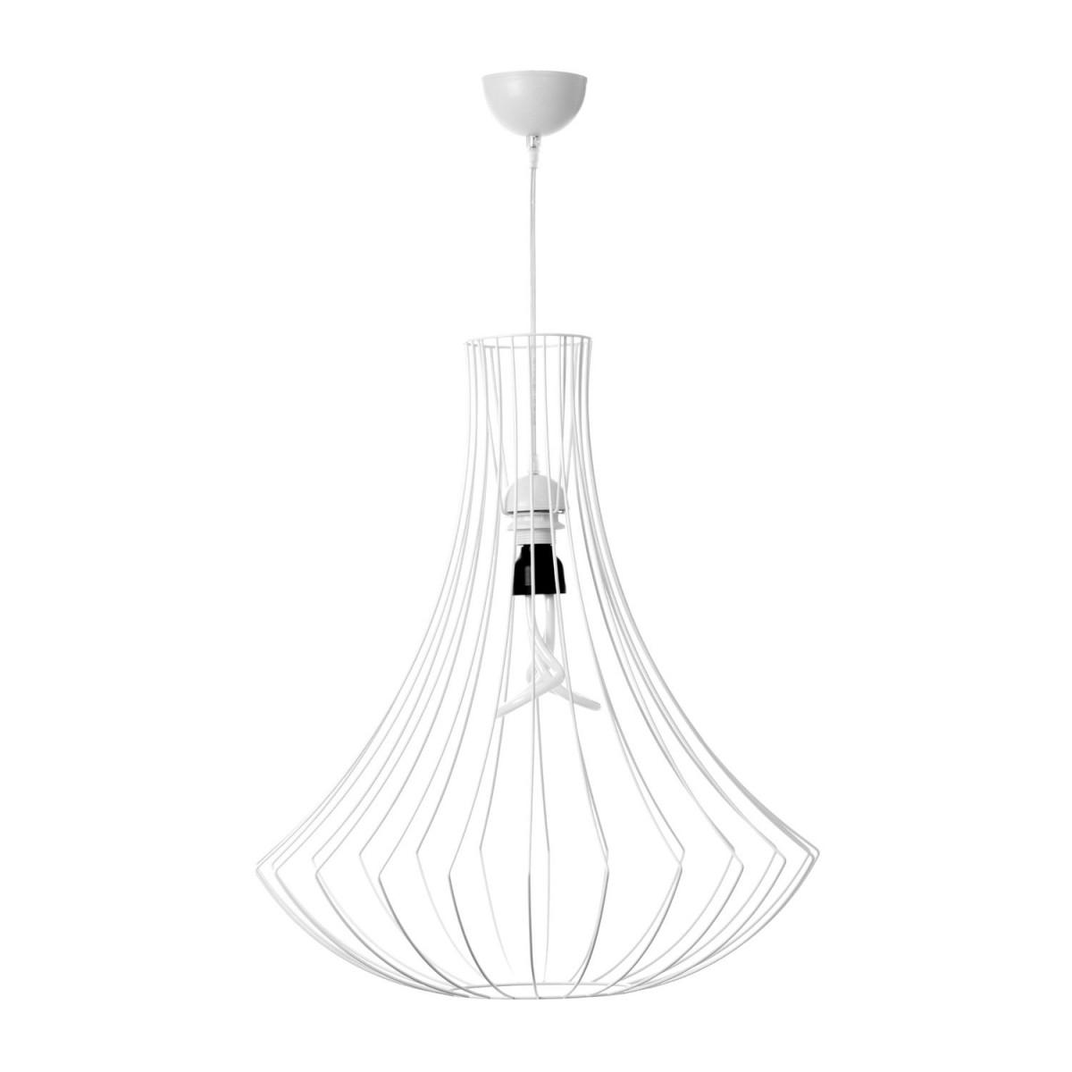 Lampe Hängelampe Metall Gold Stäbe Hängeleuchte Wohnzimmer Schlafzimmer Weiß von Wohnzimmer Lampe Weiß Bild