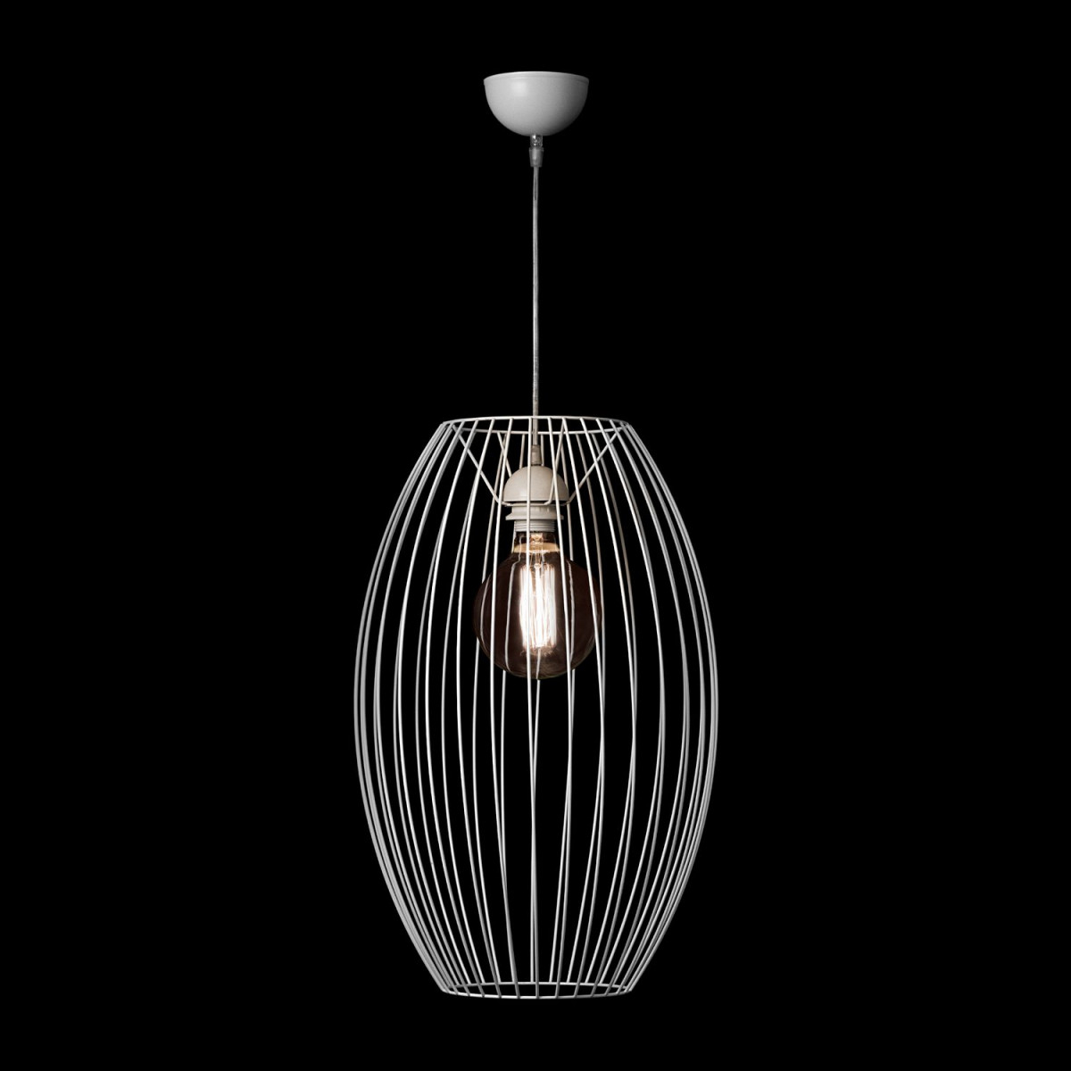 Lampe Modern Scandi Look Hängelampe Hängeleuchte Design Leuchte Wohnzimmer  Weiß von Wohnzimmer Lampe Weiß Bild