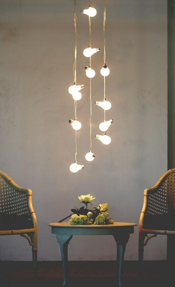 Lampeglühbirnenformhängendüberbistrotisch  Dekor von Deckenlampe Hängend Wohnzimmer Bild