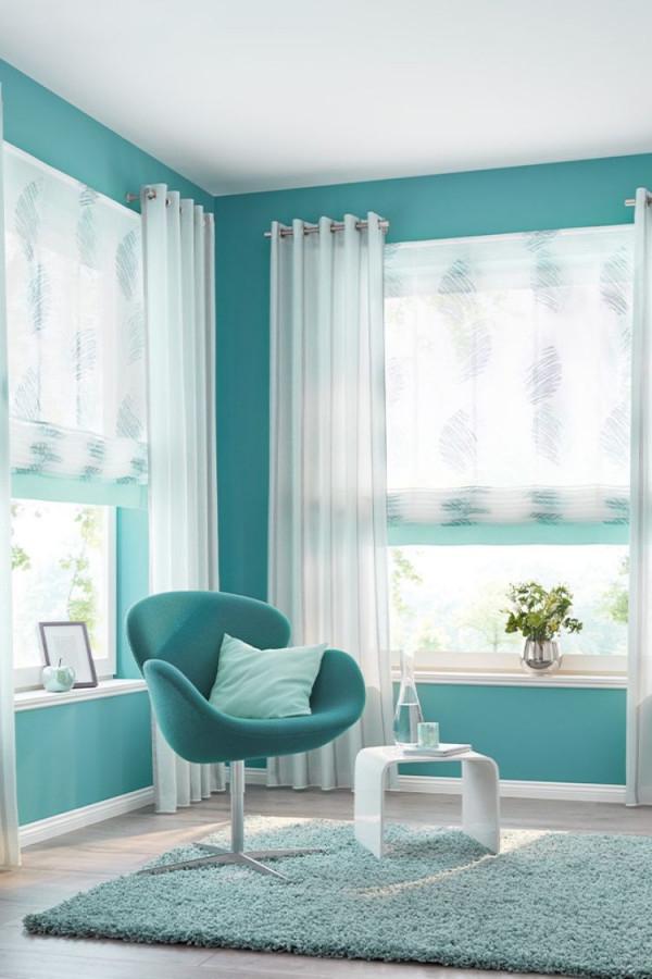 Längsstreifendesign Für Ihr Wohnzimmer  Vorhänge Fürs von Leichte Gardinen Wohnzimmer Bild