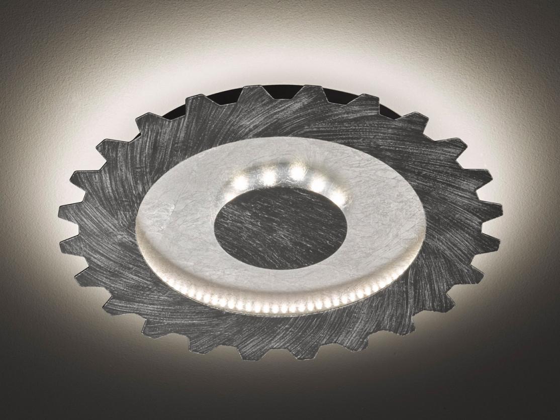 Led Deckenlampe Industrie Look Silber  Gold Ø40Cm Vintage Lampe Fürs  Wohnzimmer von Deckenlampe Wohnzimmer Industrie Bild
