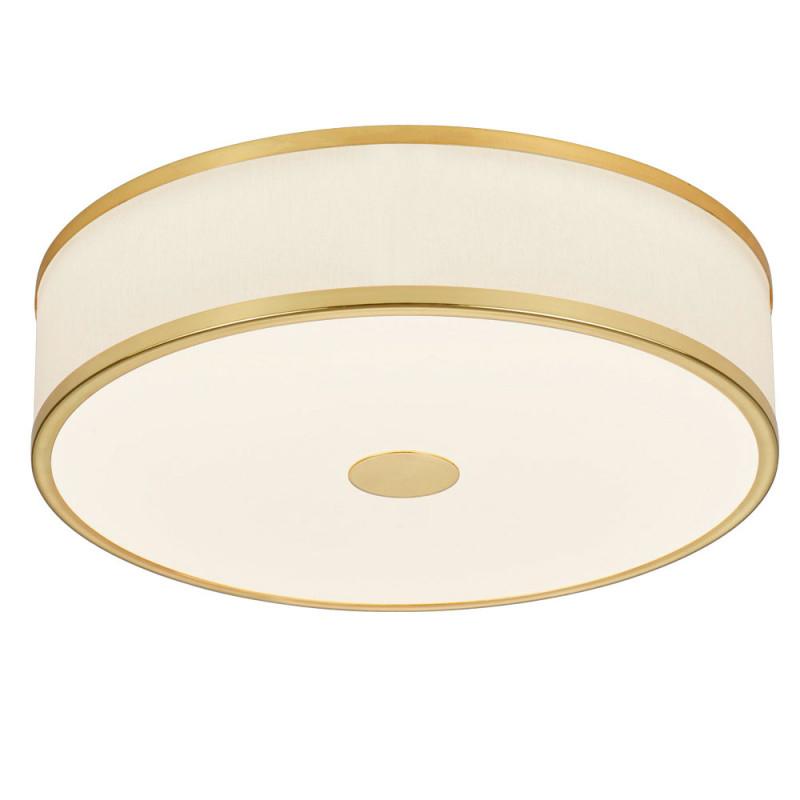 Led Deckenlampe Messing Weiß Switch Dimmer D 40 Cm Agento von Wohnzimmer Lampe Messing Photo
