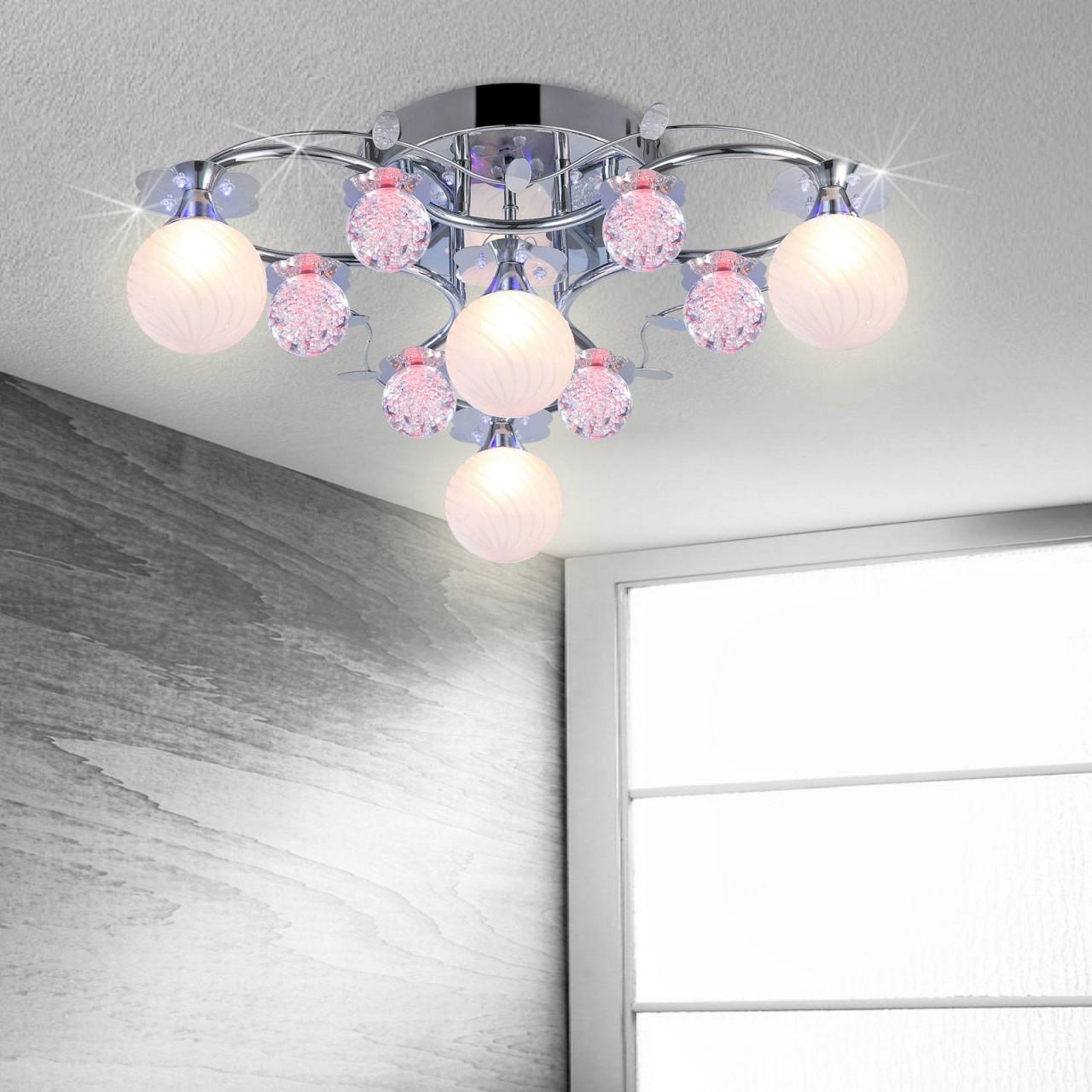 Led Deckenlampe Wohnzimmer Schlafzimmer Leuchte Farbwechsel 4 Flammig von Wohnzimmer Lampe Led Farbwechsel Bild