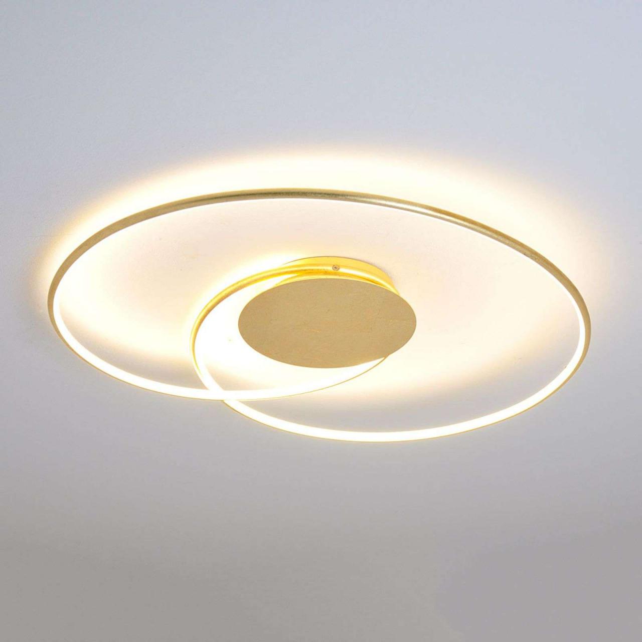 Led Deckenleuchte Deckenlampejoline Gold Hell Deckenlampe von Wohnzimmer Lampe Gold Photo