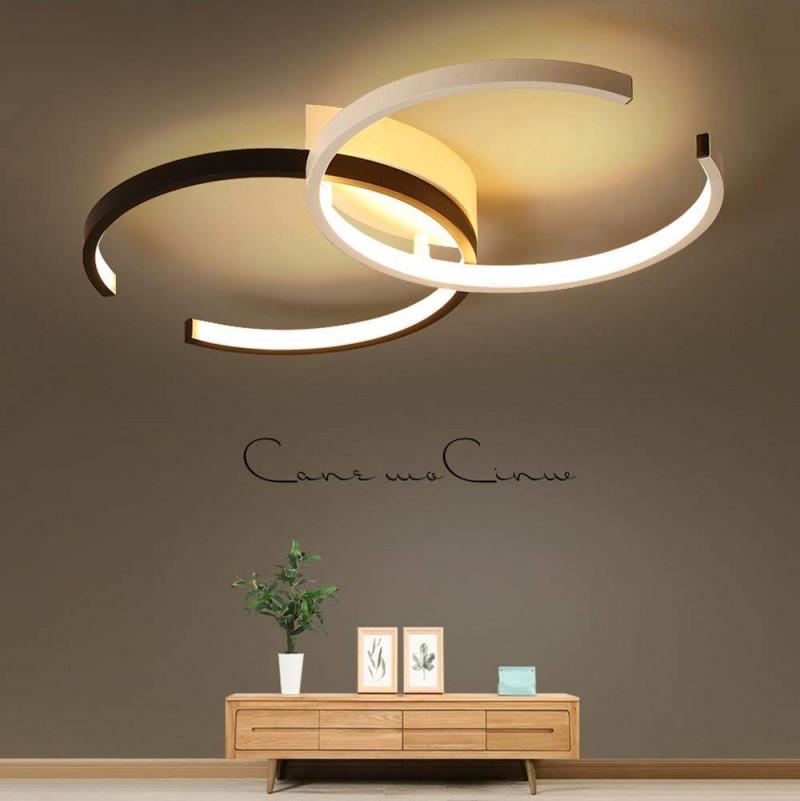 Led Deckenleuchte I Cbjktx Deckenlampe 55Cm 40W Dimmbar Mit von Wohnzimmer Deckenlampe Dimmbar Bild
