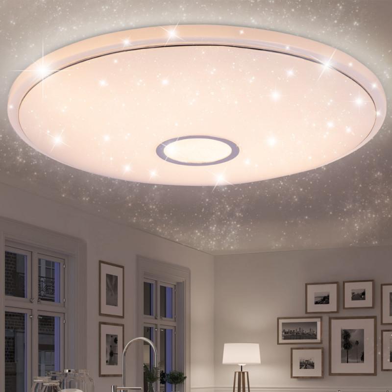 Led Deckenleuchte Mit Sternenhimmel Fernbedienung Connor von Deckenlampe Wohnzimmer Groß Bild