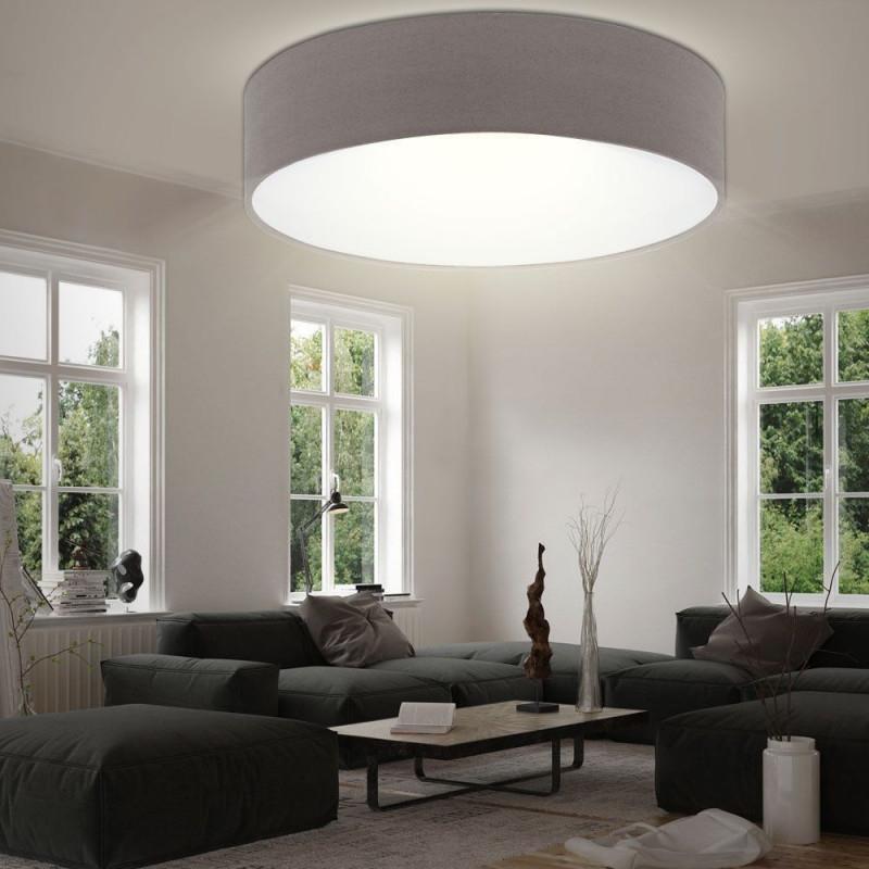 Led Textil Decken Leuchte Wohn Schlaf Zimmer Beleuchtung von Wohnzimmer Lampe Rund Photo