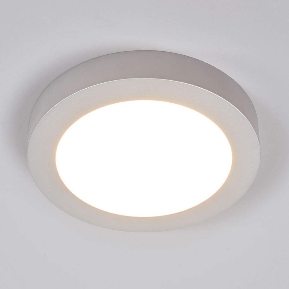 Leddeckenlampe Marlo Silber 3000K Rund 252Cm Von von Deckenlampe Wohnzimmer Rund Photo