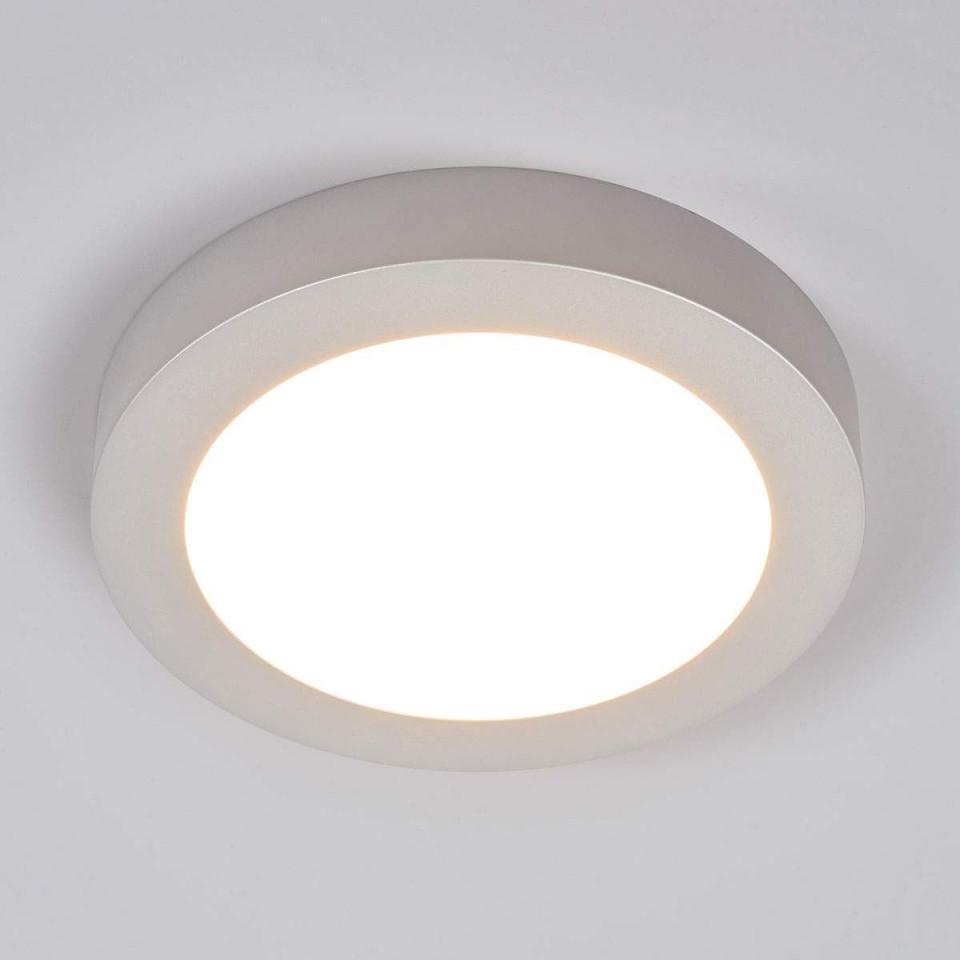 Leddeckenlampe Marlo Silber 3000K Rund 252Cm Von von Wohnzimmer Deckenleuchte Dimmbar Bild