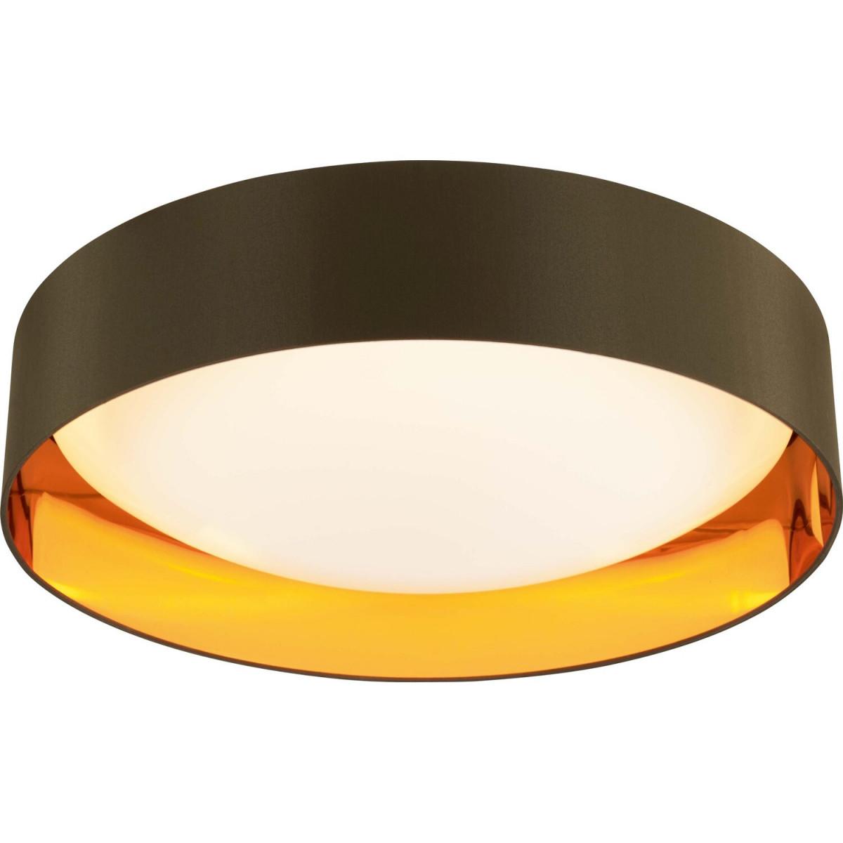 Leddeckenleuchte Aliano Goldbraun Ø 60 Cm Eek A von Deckenleuchte Wohnzimmer Gold Bild