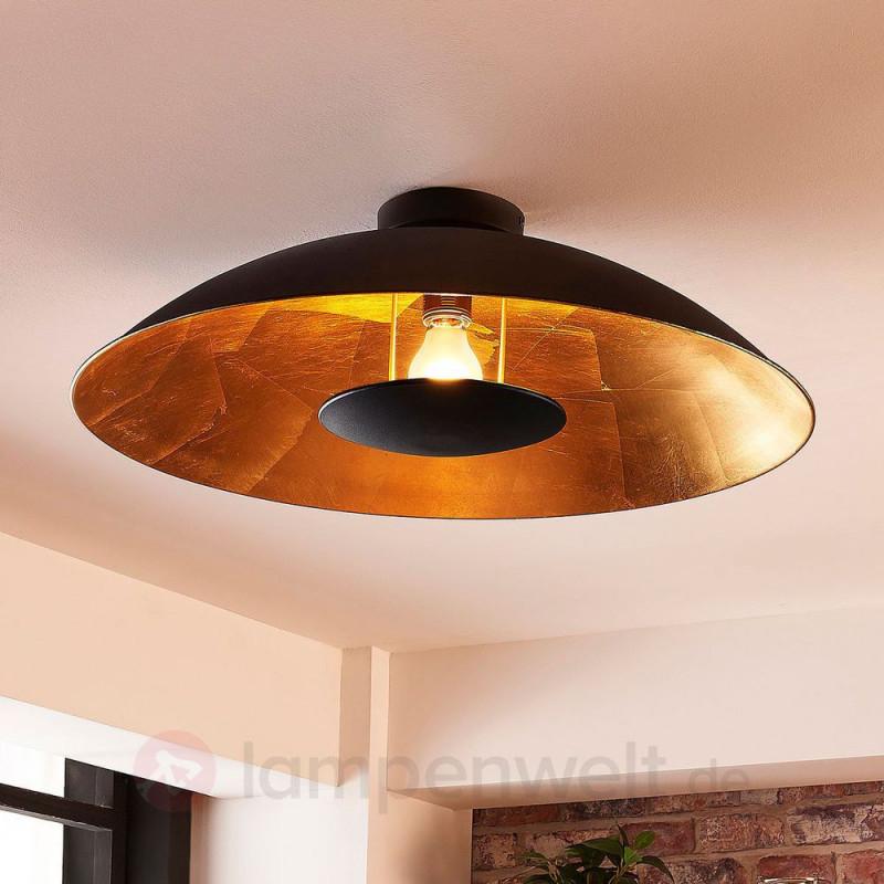 Leddeckenleuchte Emilienne Schwarz Gold Indirektes Licht von Deckenleuchte Wohnzimmer Gold Photo