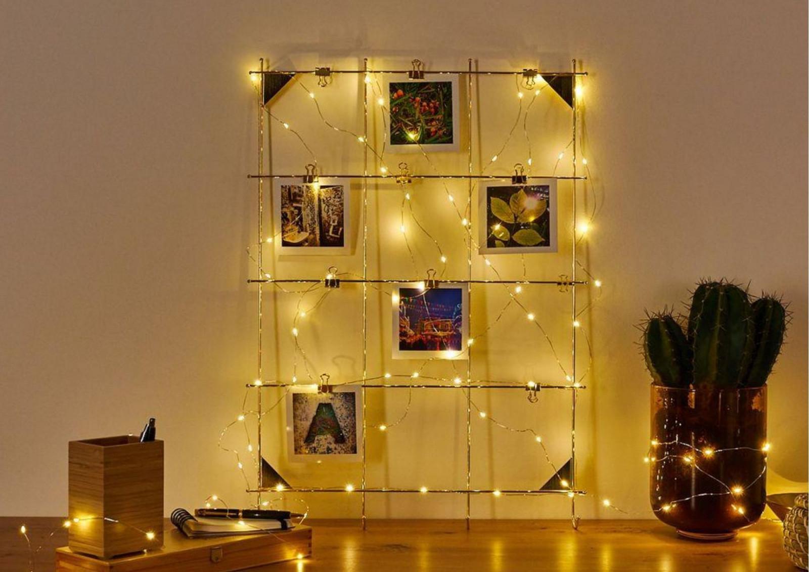 Lichterketten Deko Beleuchtungsideen Mit Lichterketten von Lichterkette Wohnzimmer Deko Bild