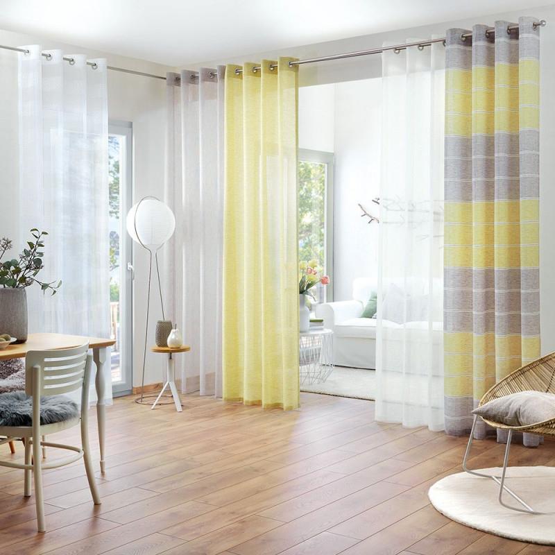 Luftig Für Wohnzimmer  Vorhänge Wohnzimmer Gardinen von Wohnzimmer Gardinen Lang Bild