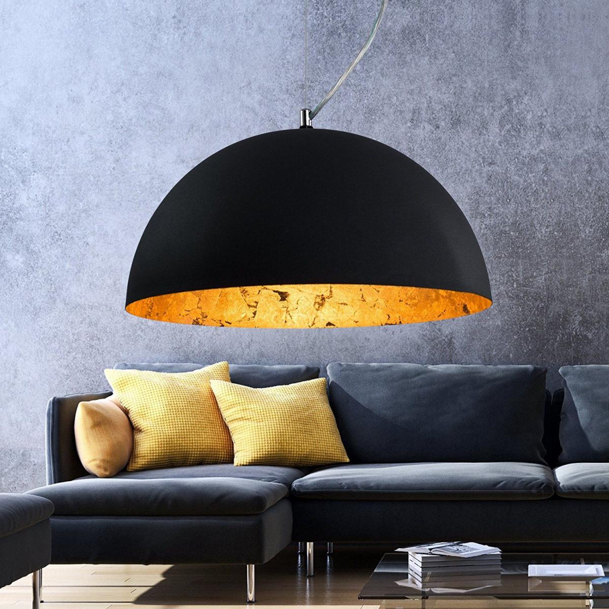 Luxus Hängelampe  Hängeleuchte Studio  Retro  Vintage von Wohnzimmer Lampe Schwarz Gold Bild