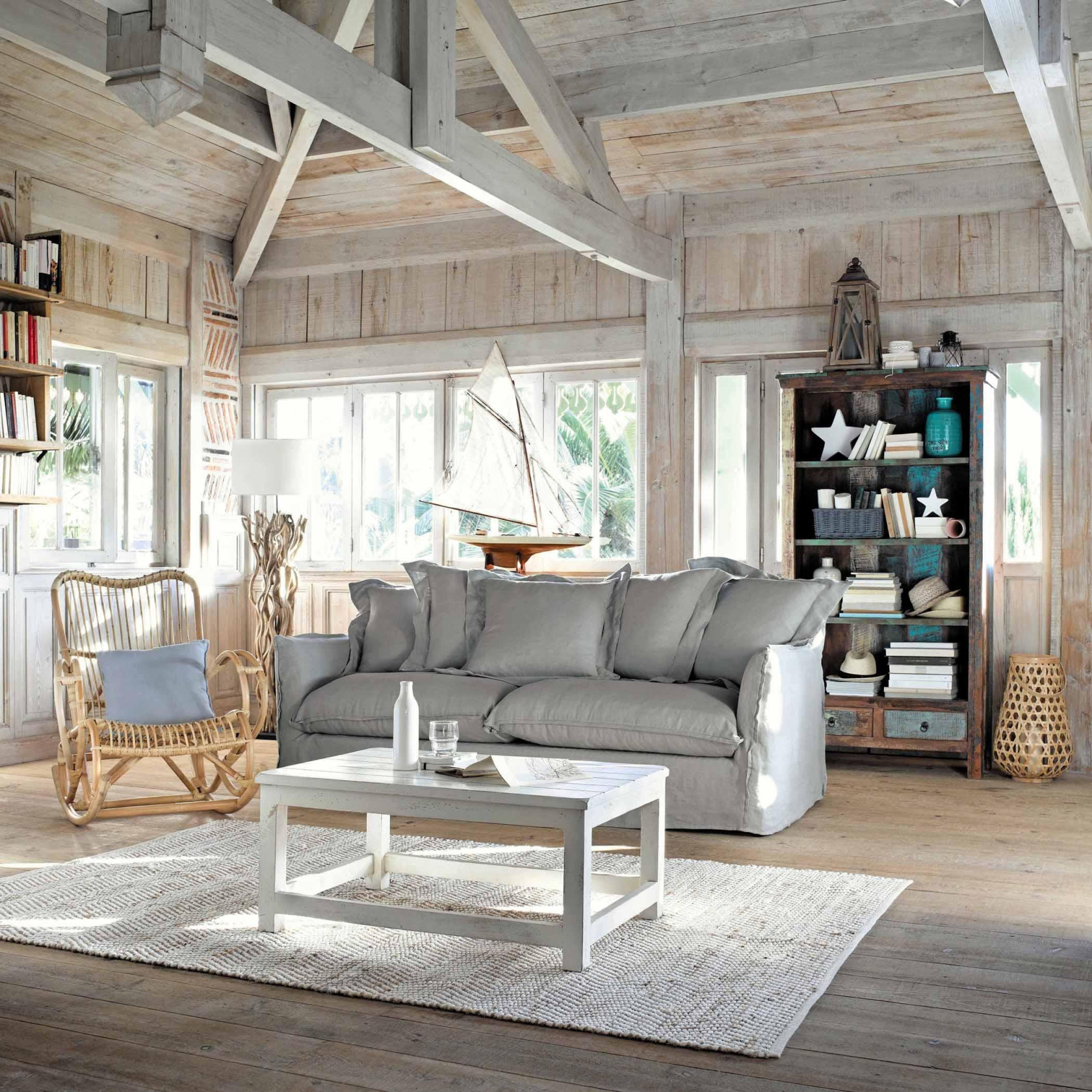 Maritime Deko Ideen Rund Ums Meer Bei Couch von Maritime Deko Wohnzimmer Photo