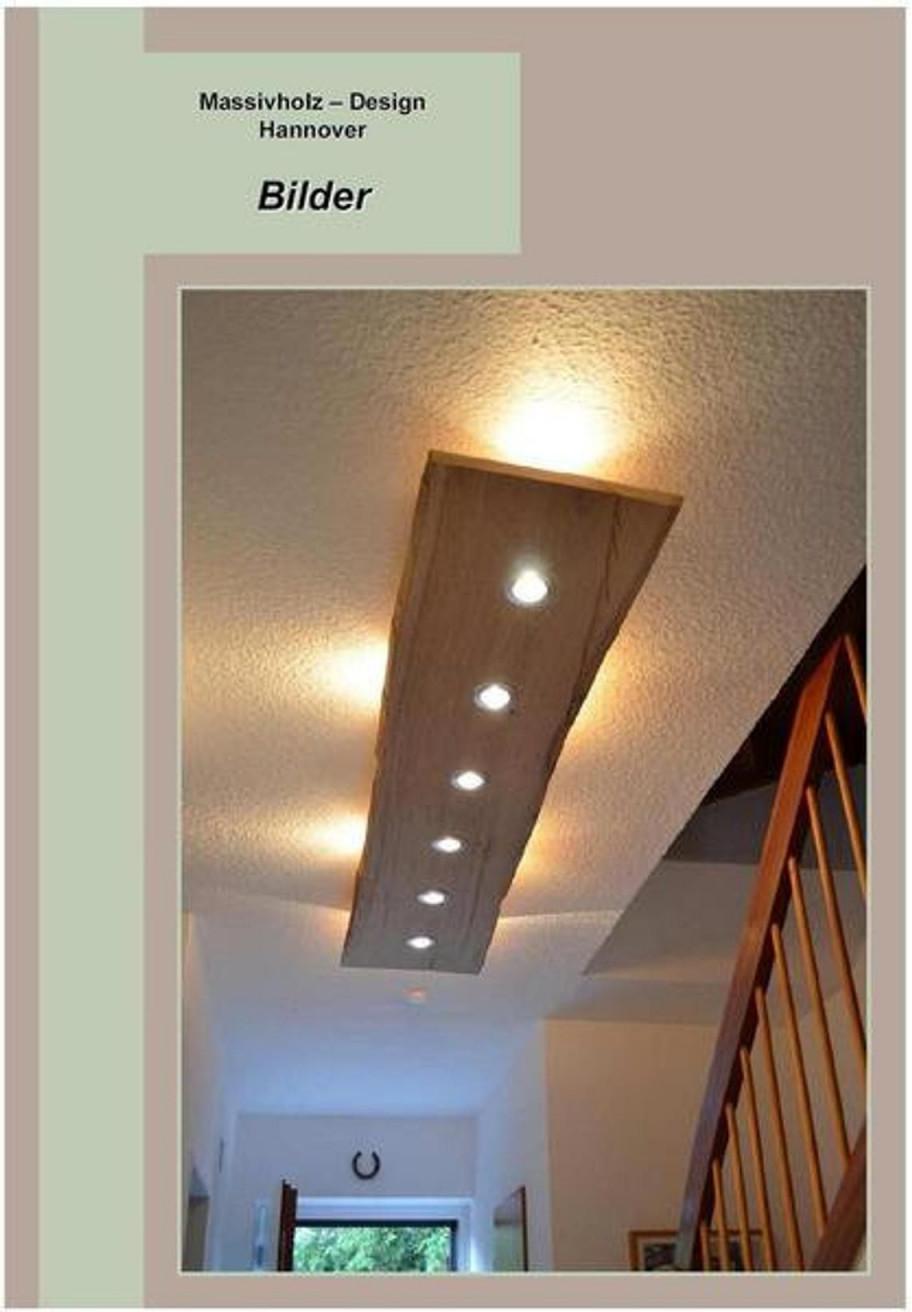 Massiv Holz Design Decken Lampe Led In 2020 Lampen von Lampe Wohnzimmer Holz Bild  Haus Bauen