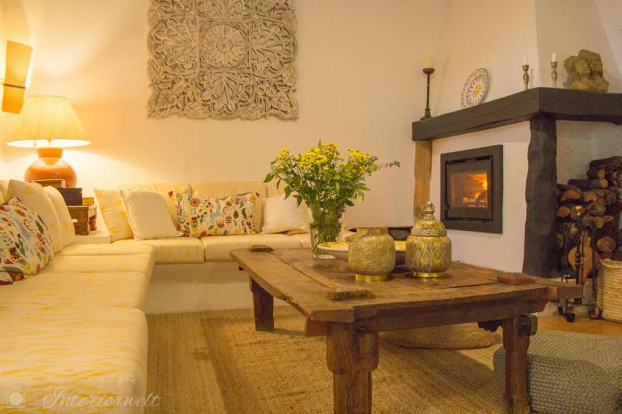 Mediterrane Einrichtung In Wunderschöner Finca Auf Mallorca von Wohnzimmer Mediterran Einrichten Photo