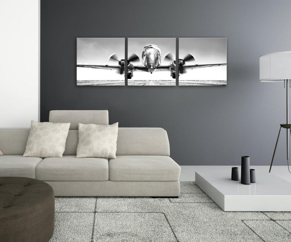 Mehrteiliges Glasbild 150X50Cm von Bilder Wohnzimmer Mehrteilig Bild