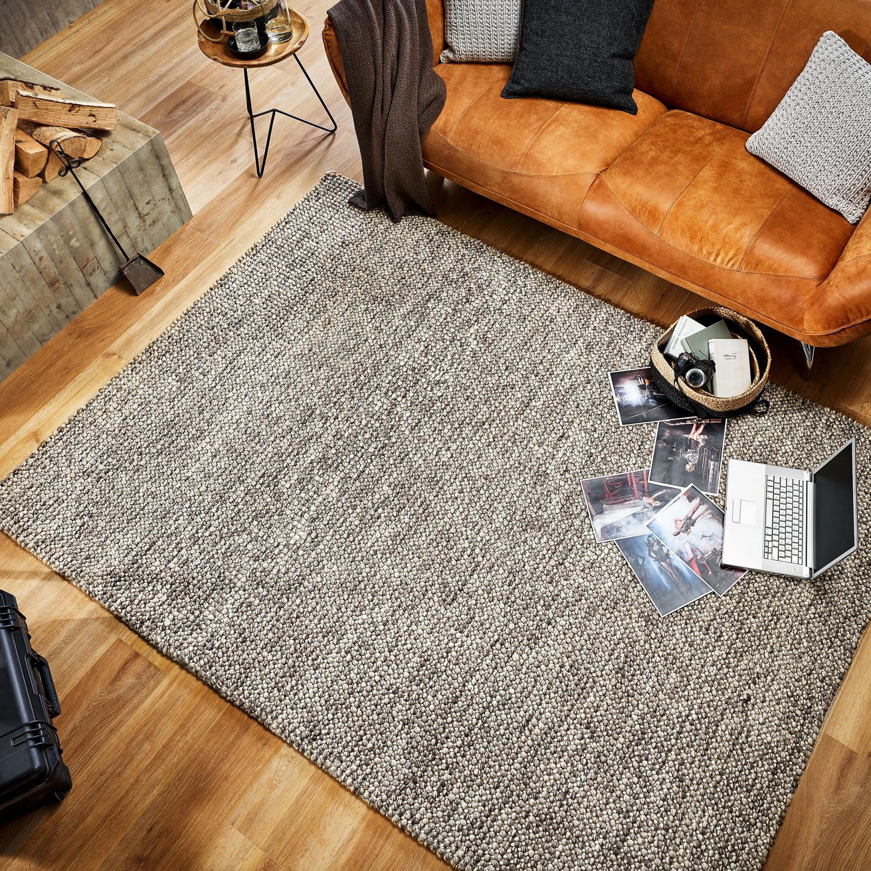Melhus In Grau 70 X 140 Cm  Pflegeleichter Flachgewebe von Pflegeleichter Teppich Wohnzimmer Bild