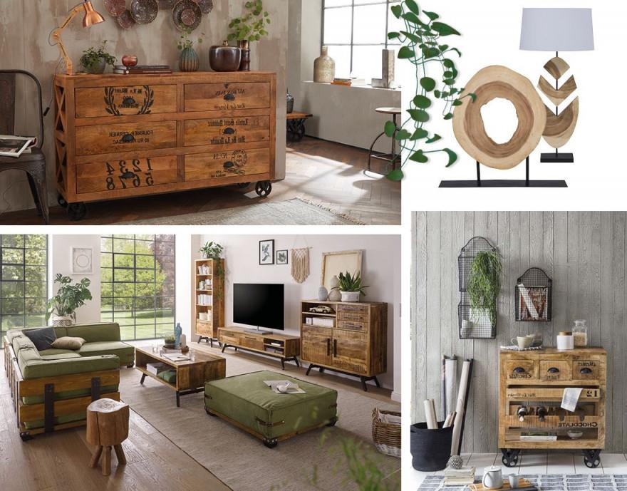 Metall Trifft Holz  Möbel Fürs Urban Living  Massivum von Moderne Holzmöbel Wohnzimmer Bild
