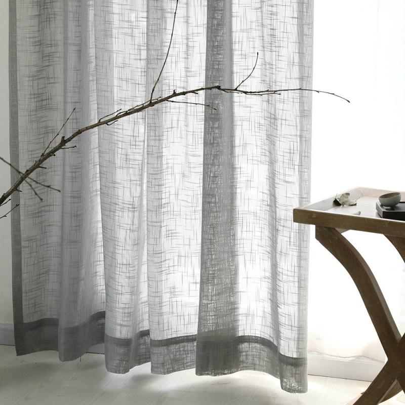 Minimalismus Gardine Grau Unifarbe Im Wohnzimmer von Gardinen Wohnzimmer Grau Photo