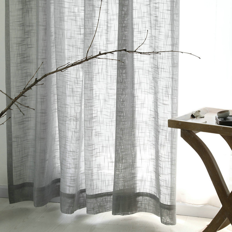 Minimalismus Gardine Grau Unifarbe Im Wohnzimmer von Graue Gardinen Wohnzimmer Photo