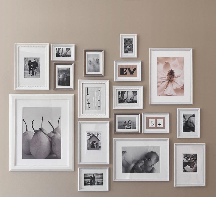 Möbel  Einrichtungsideen Für Jedes Zuhause  Fotowand von Bilderrahmen Wohnzimmer Ideen Bild