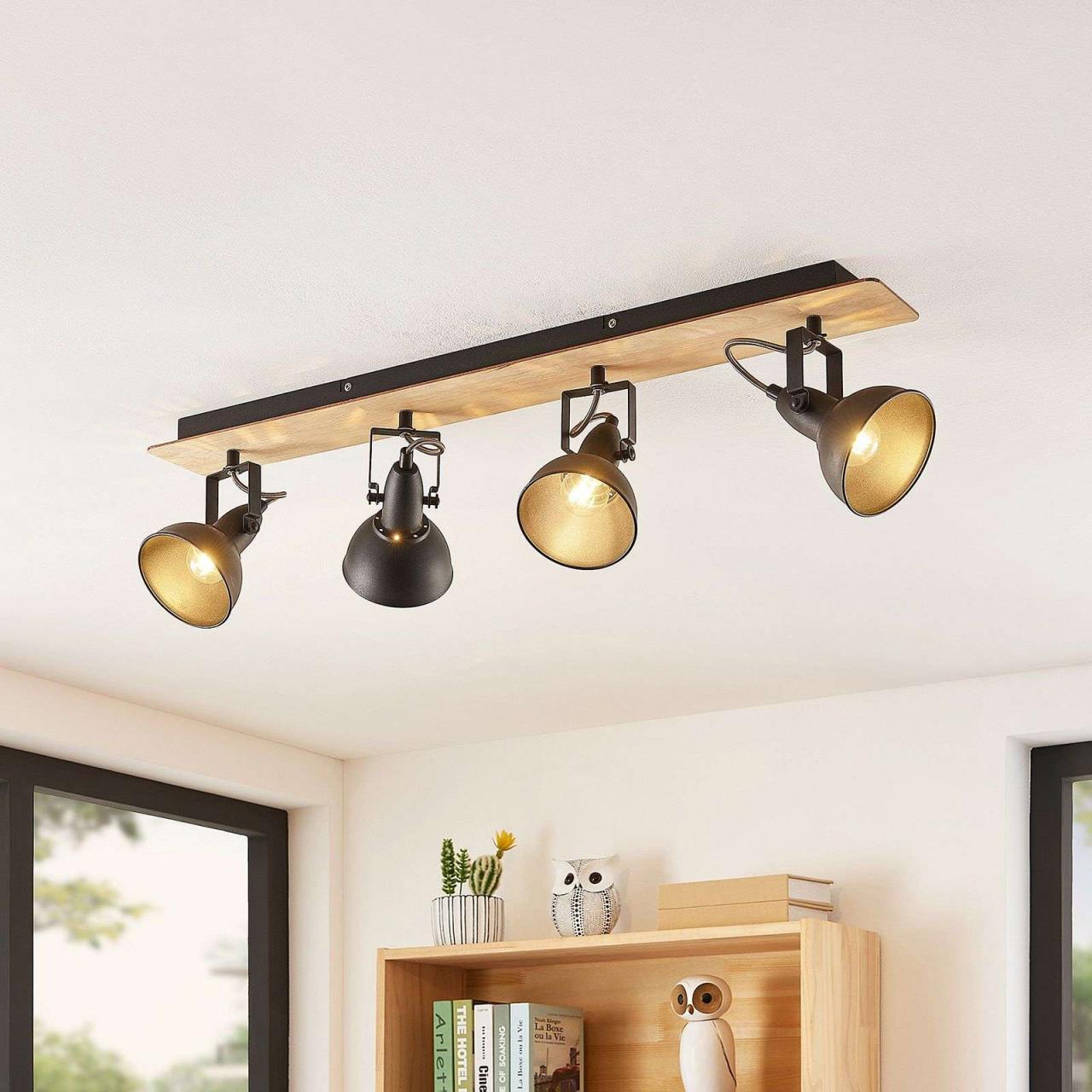 Möbel Schilder  Dekoration Decken Lampe Holz Wohnzimmer von Wohnzimmer Lampe Holz Photo