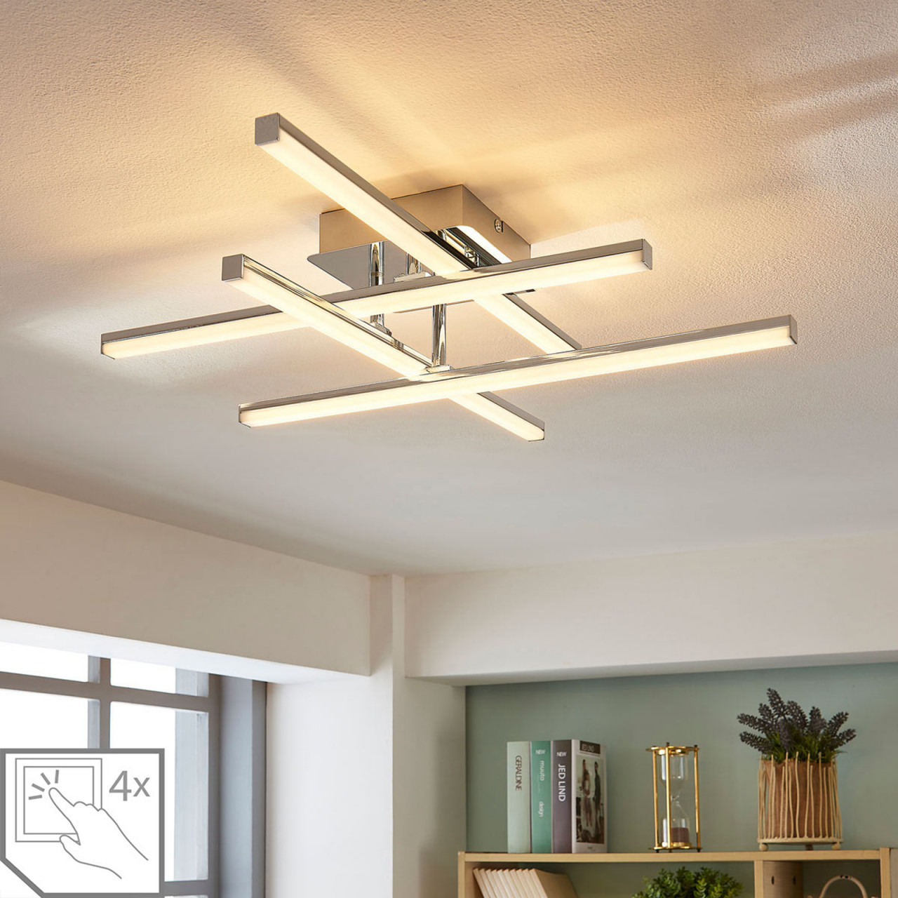 Möbel  Wohnaccessoires Küche Haushalt  Wohnen Für von Deckenleuchte Wohnzimmer Led Dimmbar Bild