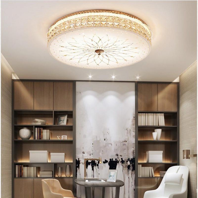 Modern Dimmbar Led Deckenleuchte Deluxe Kristall Lampe von Wohnzimmer Lampe Weiß Photo