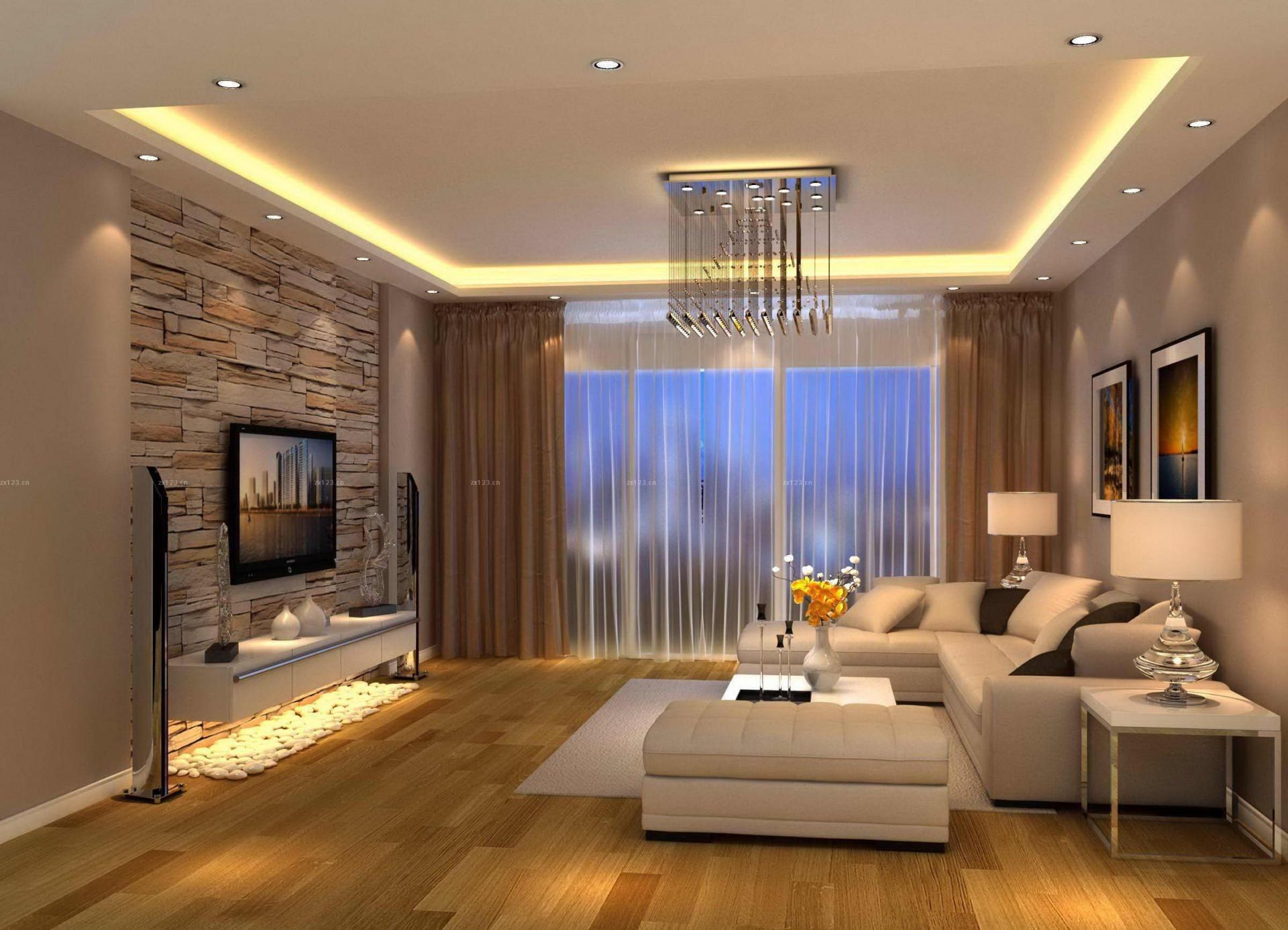 Modern Living Room Brown Design  Wohnzimmer Modern von Bilder Wohnzimmer Modern Bild
