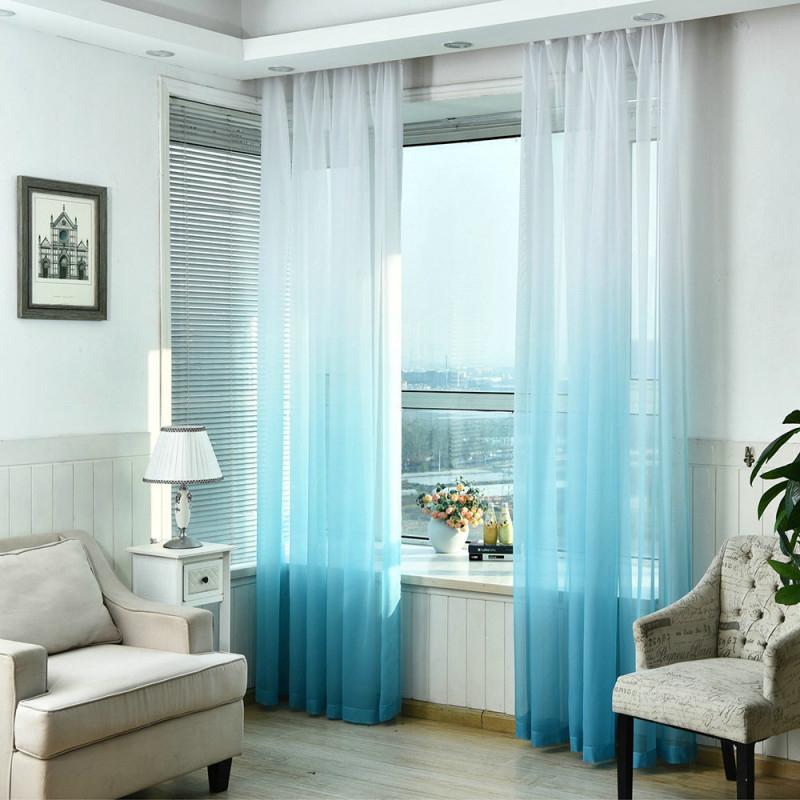 Moderne Gardine Farbverlauf Im Wohnzimmer von Wohnzimmer Gardinen Mit Kräuselband Bild