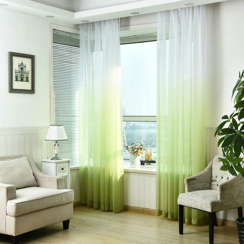 Moderne Gardine Farbverlauf Im Wohnzimmer von Wohnzimmer Gardinen Modern Bild