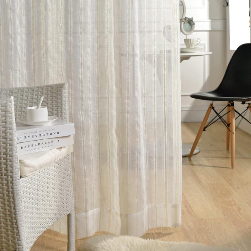 Moderne Gardinen Streifen Design Transparent Für Wohnzimmer von Streifen Gardinen Wohnzimmer Photo