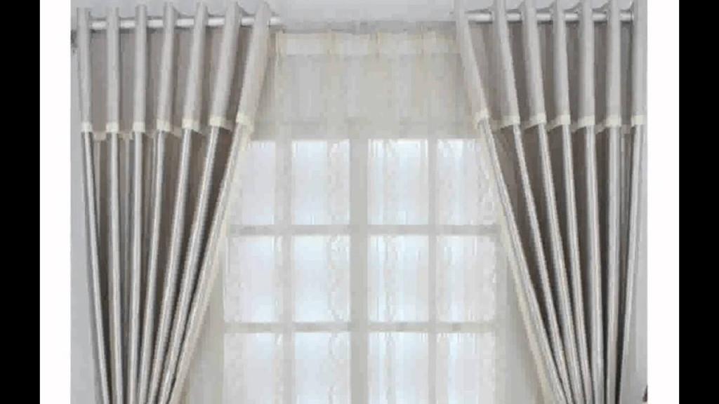 Moderne Gardinen Wohnzimmer Inspiration  Youtube von Design Gardinen Wohnzimmer Bild