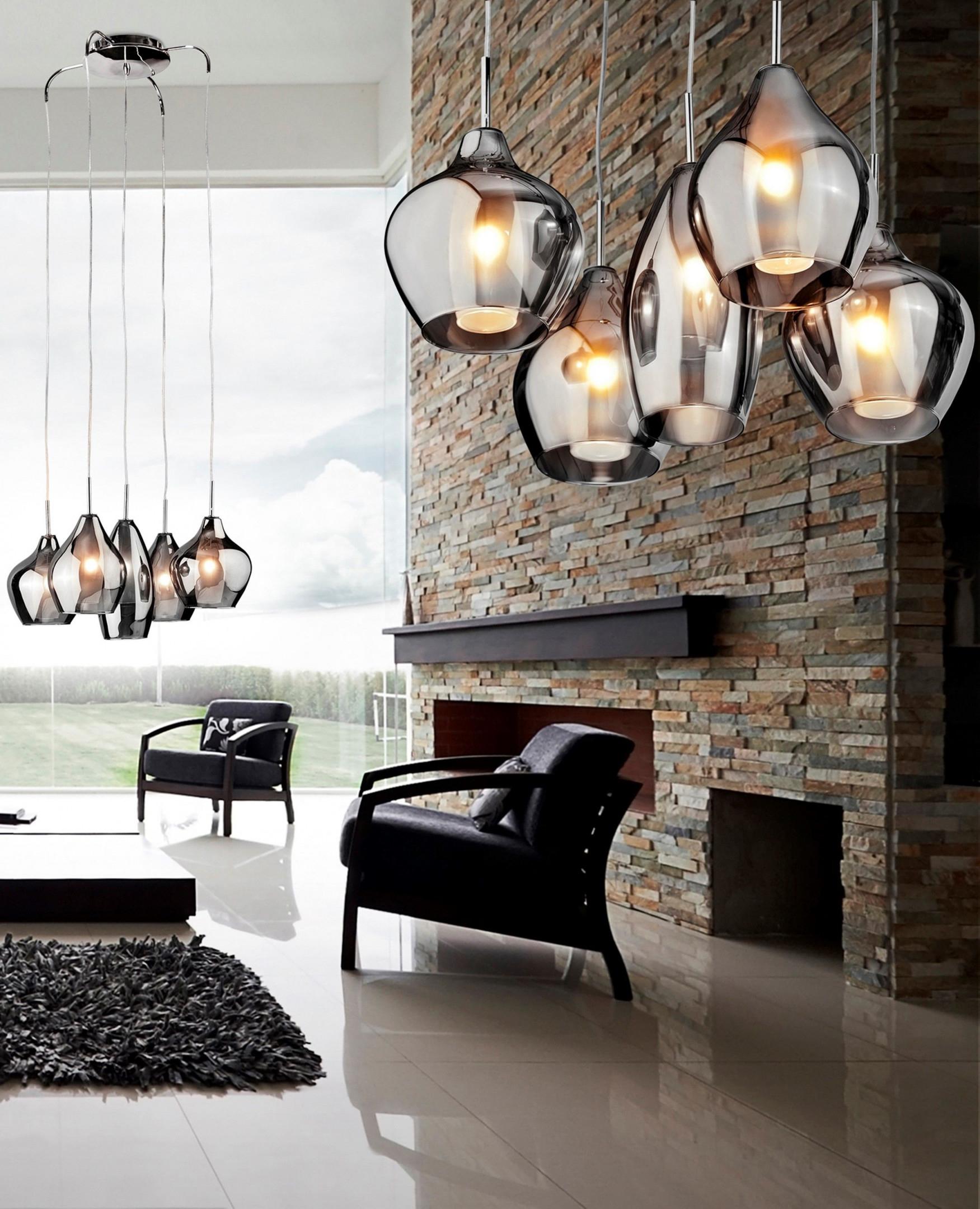 Moderne Glaslampe  Lampen Wohnzimmer Hängeleuchte von Wohnzimmer Lampe Glas Bild