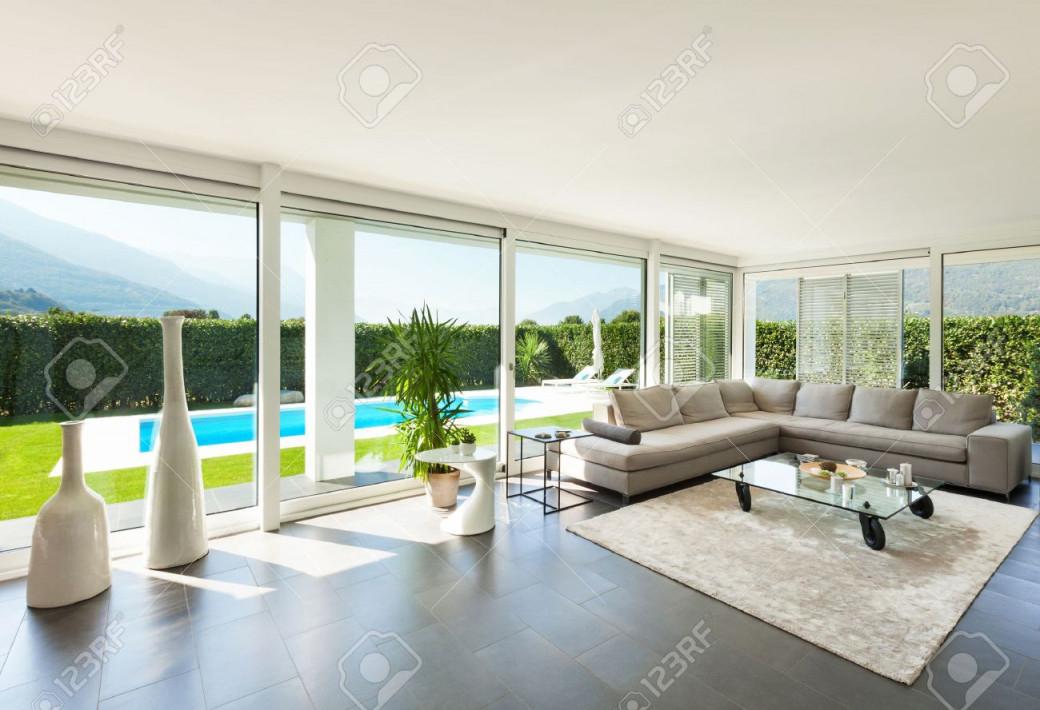 Moderne Villa Inneneinrichtung Schönes Wohnzimmer von Schöne Moderne Wohnzimmer Photo