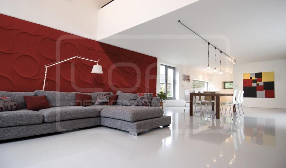Moderne Wandgestaltung • Bilder  Ideen • Couch von Moderne Wandverkleidung Wohnzimmer Photo
